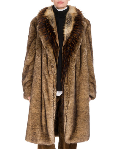 Rentin Triple-Layer Faux Fur Coat