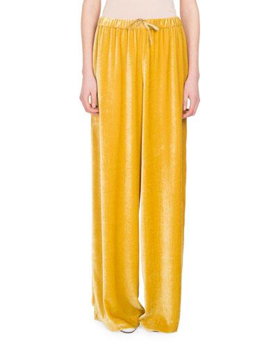 Pavlova Velvet Wide-Leg Pants