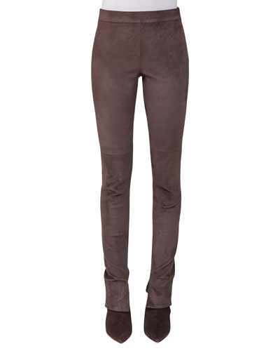 Melissa Wool-Flannel Slim-Leg Pants