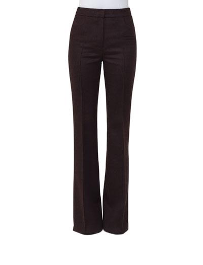 Farid Straight-Leg Flannel Pants