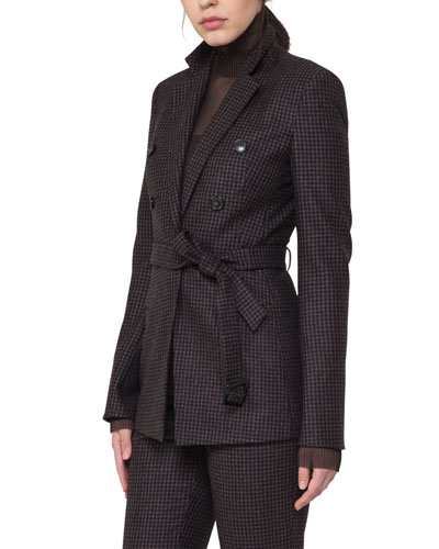 Legend Check Belted Jacket