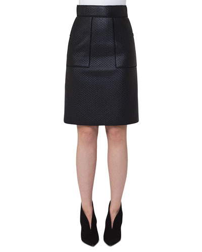 Scuba-Fused Leather Skirt