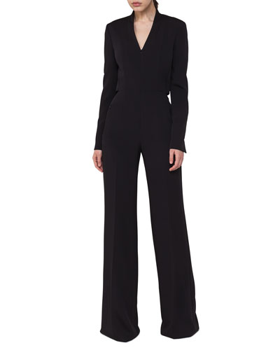 Long-Sleeve Zip-Front Jumpsuit