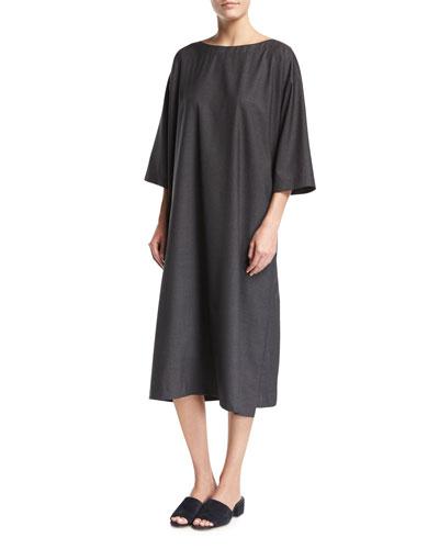 3/4-Sleeve Tunic Dress