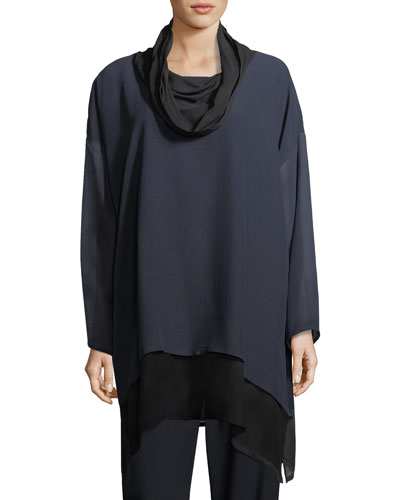 A-Line Cowl-Neck Top