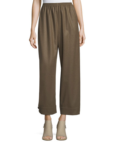 Button-Cuff Japanese Trousers