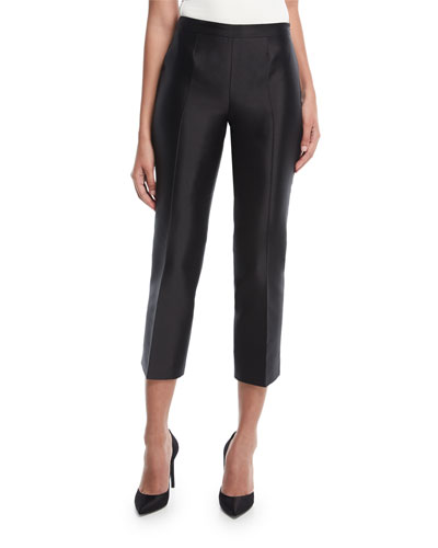 Cropped Shantung Evening Pants