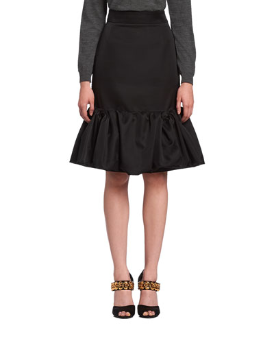 Mikado Godet Pencil Skirt