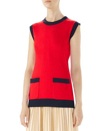 Wool-Cashmere Sleeveless Top