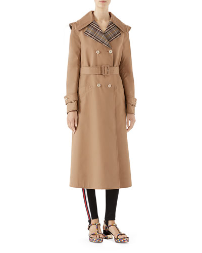Oversized Gabardine Trenchcoat