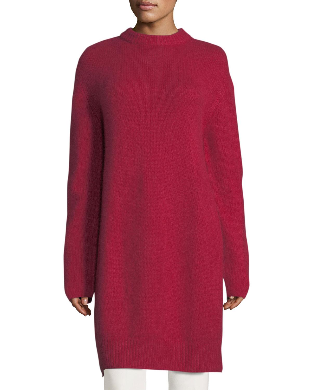 Long Side-Slit Tunic Sweater