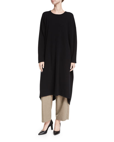 Round-Neck Cashmere Dress