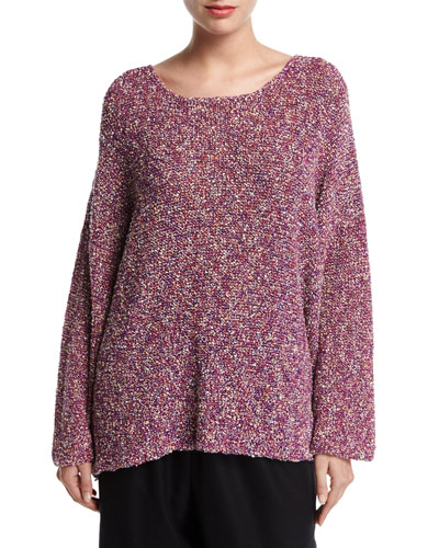 Hand-Loomed Bateau-Neck Sweater