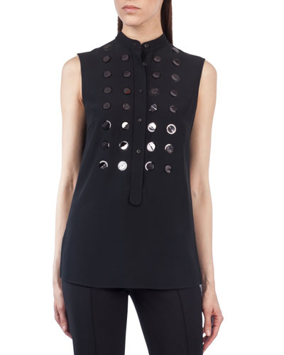 Sleeveless Paillette-Embellished Top