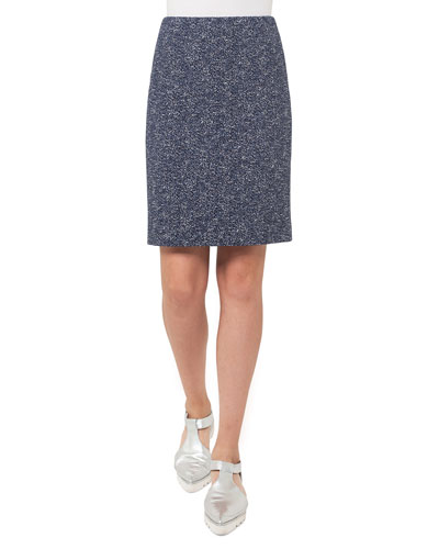 Stretch-Jacquard Mini Skirt