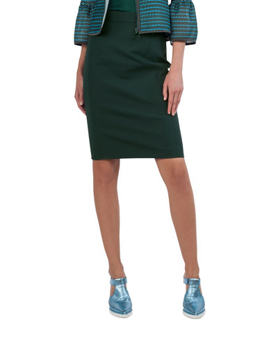 Techno Stretch Pencil Skirt