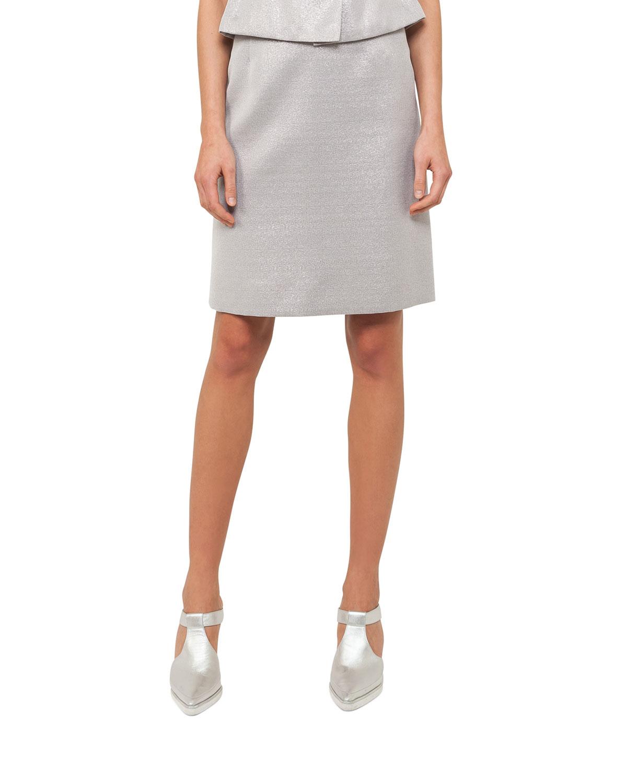 Metallic A-Line Skirt