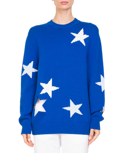 Star Knit Crewneck Sweater