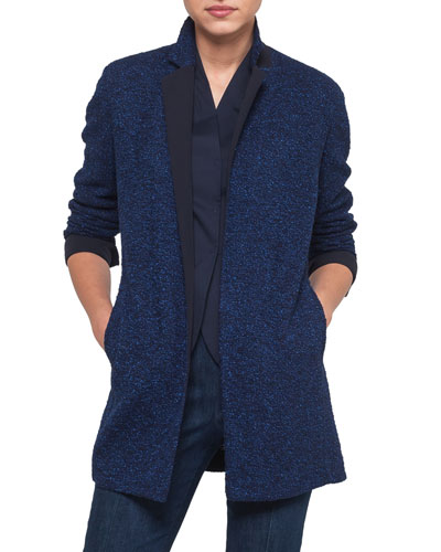 Boucle Tweed Long Jacket