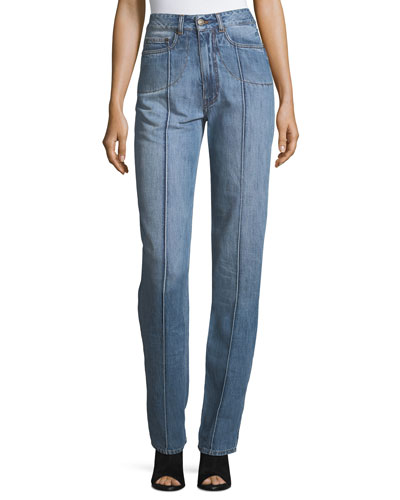 Seamed Denim Jeans