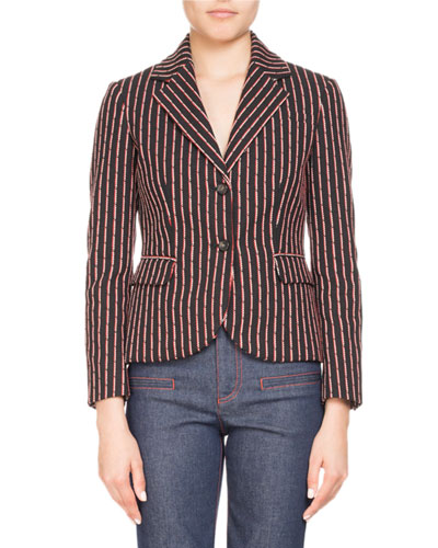Trinity Pinstriped Two-Button Jacket