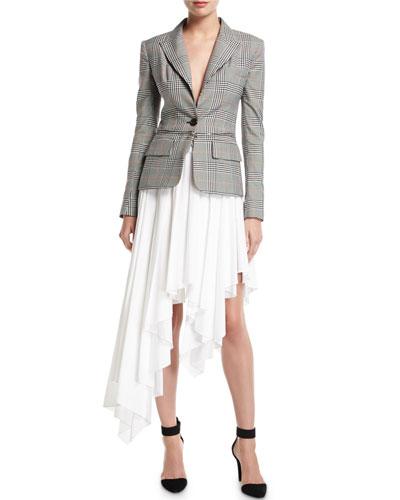 Plaid Zip-Off Blazer Dress