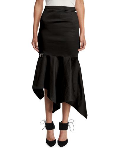 High-Waist Fitted Trumpet Skirt