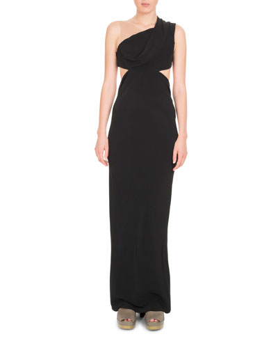 One-Shoulder Cutout Cady Gown