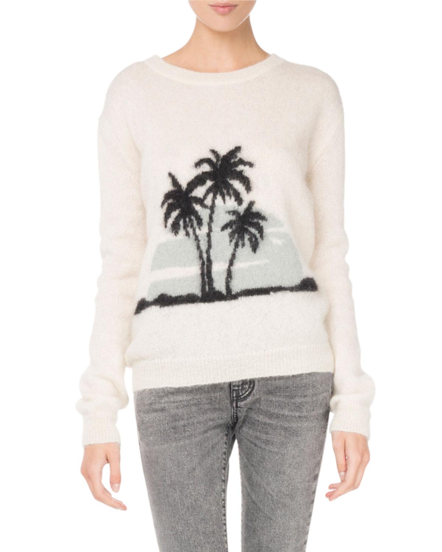 Knit Palm Tree Sweater