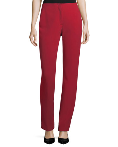 Simone Double-Face Stretch-Wool Pants