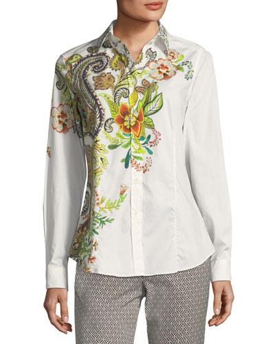 Floral Paisley Poplin Shirt