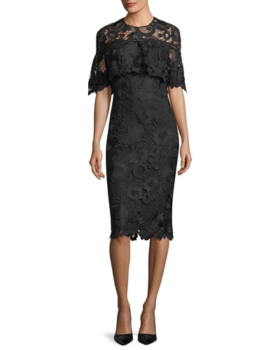 Lace Capelet Sheath Dress