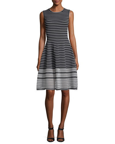 Sleeveless Striped Day Dress