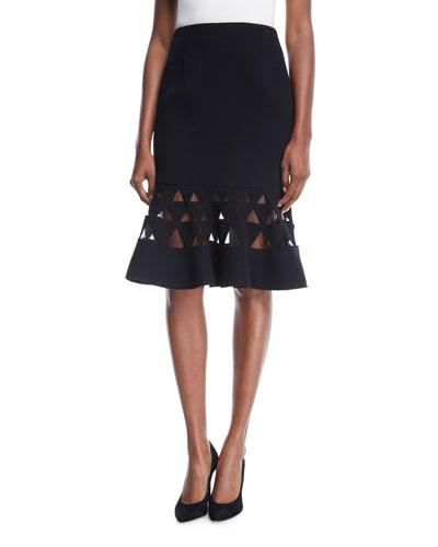 Flare Triangle Cutout Skirt