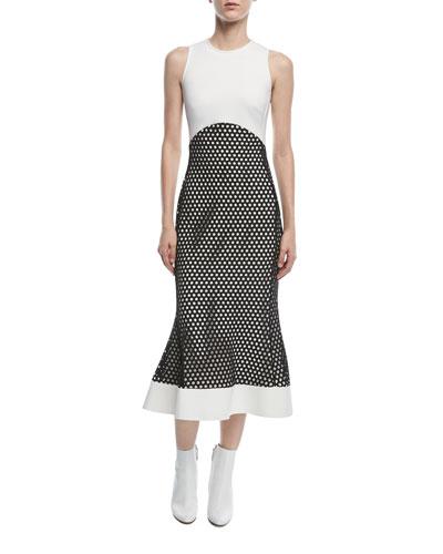 Sleeveless Macrame Midi Dress