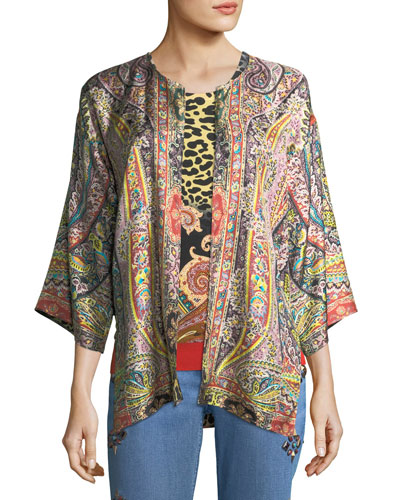 Reversible Silk Jacket