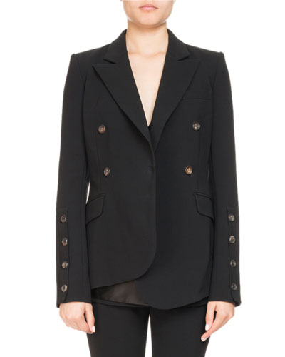 Asymmetric Wrap-Front Jacket