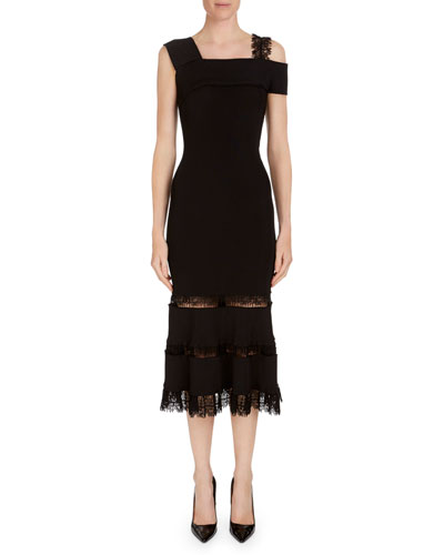 Bramley One-Shoulder Midi Dress