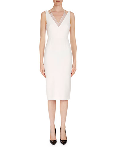 Sleeveless Layered V-Neck Dress