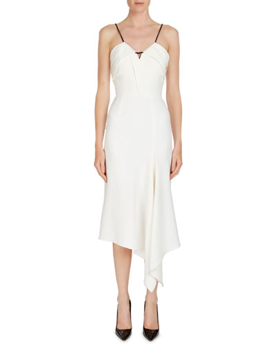 Rope-Trim Sleeveless Midi Dress