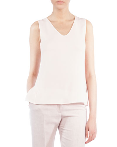 Scoop-Neck Double-Layer Top