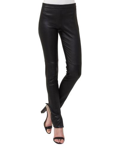 Stretch-Leather Leggings