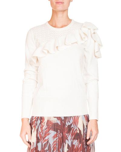 Dhama Ruffled Knit Sweater