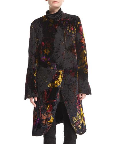 Devore Velvet Robe Coat
