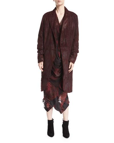 Suede Cocoon Coat