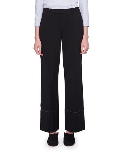 Alisei Wide-Leg Mid-Rise Crepe Pants