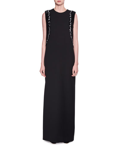 Emerette Embellished Crewneck Gown