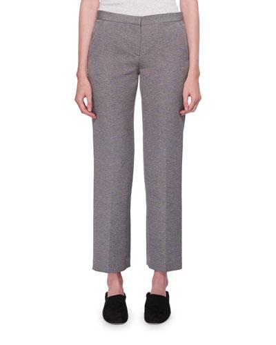 Mavery Mid-Rise Straight-Leg Pants