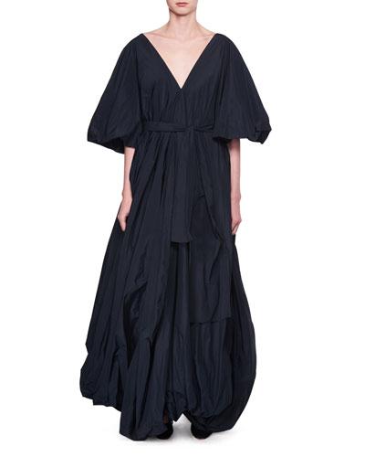 Leegan Oversized Taffeta Gown