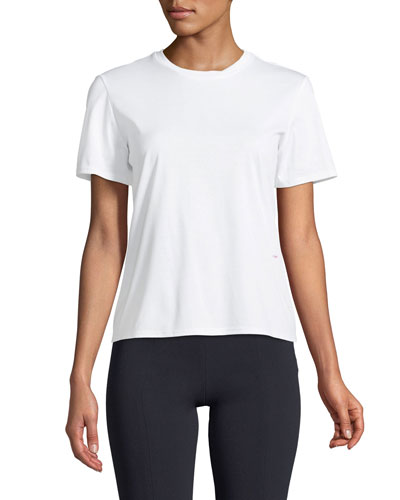 Hope Crewneck Short-Sleeve Cotton Jersey Tee